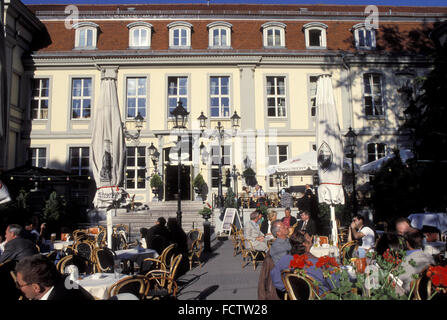 DEU, Germany, Berlin, the Opernpalais-Cafe at the street Unter den Linden.  DEU, Deutschland, Berlin, Opernpalais - Stock Photo