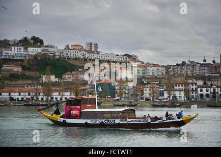 Rabelo Boat in Porto, Portugal, Europe - Stock Photo