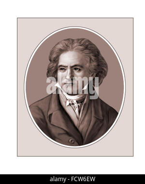 Ludwig van Beethoven, German Composer, Portrait - Stock Photo