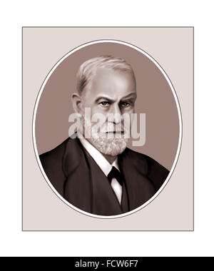 Sigmund Freud, Austrian Psychoanalyst, Portrait - Stock Photo
