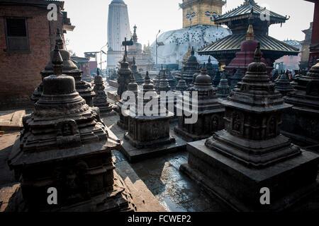 Nepal, Kathmandu, Swayambhunat - Stock Photo
