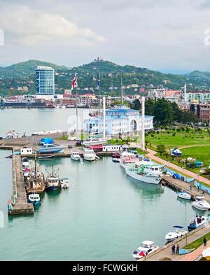 Batumi Sea Port and passenger terminal. Georgian Republic - Stock Photo