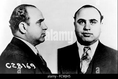 Al Capone. Mugshot of the american gangster Al Capone, taken on 17th June 1931 - Stock Photo