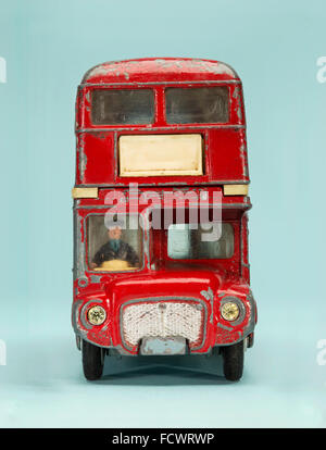 Vintage Dinky Toy London Route Master bus - Stock Photo