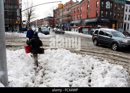 New York, USA. 25th January, 2016. jonas new york snow storm 2016 Credit:  simon leigh/Alamy Live News - Stock Photo