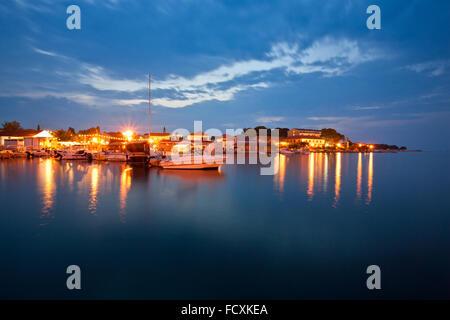 Place Ugljan in the evening, island Ugljan, Dalmatia, Croatia - Stock Photo