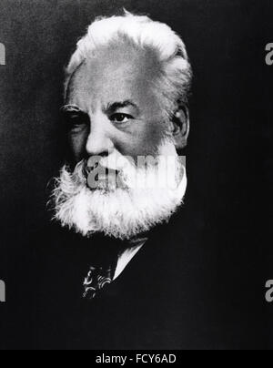 portrait of alexander graham bell 1847 1922 engineer - Stock Photo