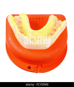 how to clean night mouth guard splint with denture