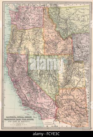 Washington oregon idaho montana map labelled black for California chiude l utah