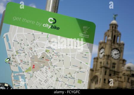 Map of Liverpool city UK Stock Photo 96120307 Alamy