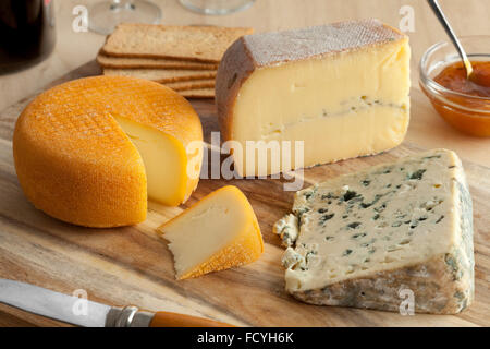 French cheese platter for dessert - Stock Photo