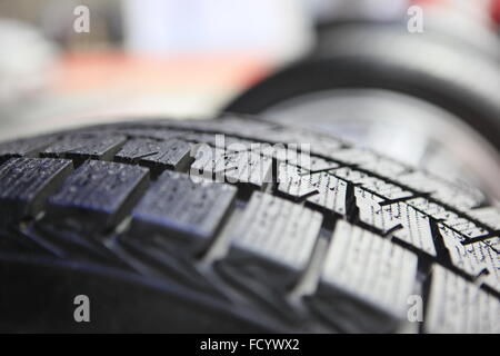 close-up of new tires - Stock Photo