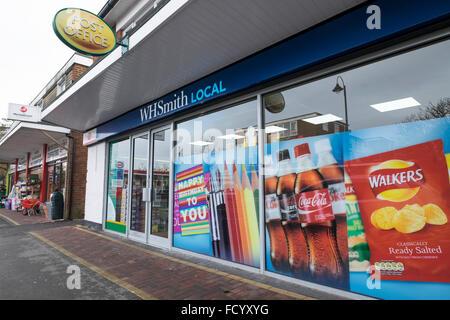 WH Smith Local store in Dibden Purlieu in Hampshire. - Stock Photo