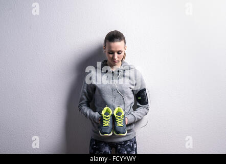 Beautiful young sportswoman - Stock Photo