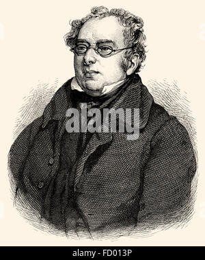 Isaac D'Israeli, 1766-1848, a British writer, scholar and man of letters - Stock Photo