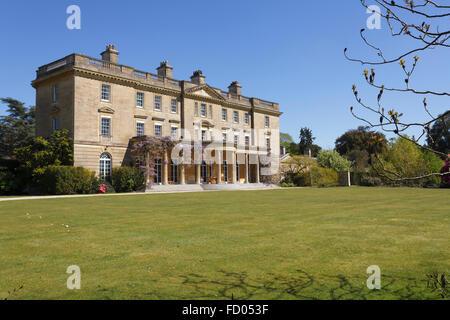 Exbury House, home of the famous Exbury gardens, Hampshire, England, Uk in Spring - Stock Photo