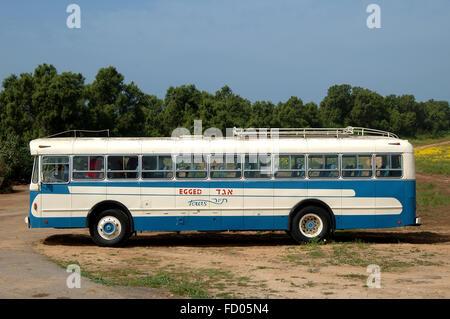 Egged old bus, Leyland, Royal tiger, - Stock Photo