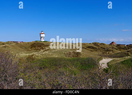 insel Langeoog, der Wasserturm - the german island Langeoog in North Sea, the water tower - Stock Photo