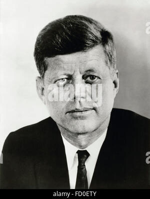 John F Kennedy, portrait of the 35th President of the USA, 1961 - Stock Photo