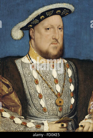 HENRY VIII of England (1491-1547) by Hans Holbein the Younger - Stock Photo