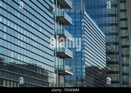 Diamantini Buildings designed by the Kohn Pederson Fox in the Porta Nuova district in Milan, Lombardy, Italy. - Stock Photo