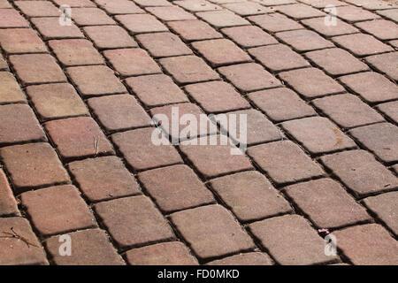 Concrete block pavement. Background texture. - Stock Photo