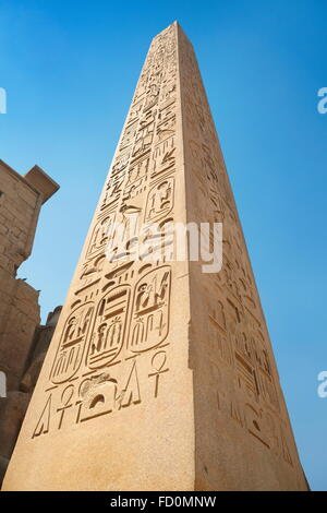 Egypt - Luxor obelisk at the Luxor Temple - Stock Photo