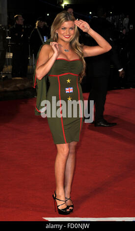 London, UK. 26th January, 2016. Zara Holland  attending the World  Premiere of DAD'S ARMY at the Odeon  Lericester - Stock Photo