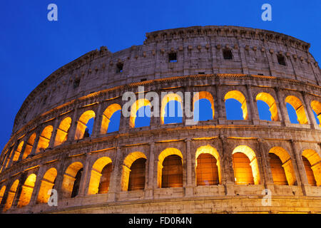 The Colosseum or Coliseum or Flavian Amphitheatre in Rome, Italy;  (Latin: Amphitheatrum Flavium); Anfiteatro Flavio - Stock Photo