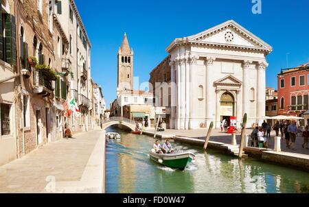 One of the numerous canals Venice, Veneto, Italy, UNESCO - Stock Photo