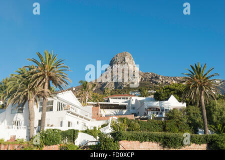 Villas in Bantry Bay, Cape Town, City of Cape Town Municipality, Western Cape Province, Republic of South Africa - Stock Photo