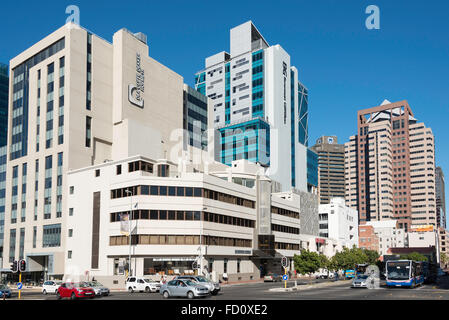 Office buildings in CBD, Riebeek Street, Cape Town, City of Cape Town Municipality, Western Cape Province, South - Stock Photo