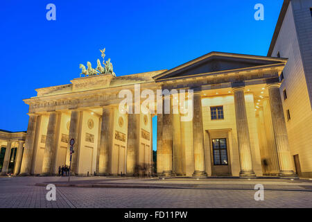 Brandenburg Gate , Berlin , Germany - Stock Photo