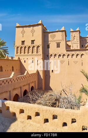 Kasbah Amahidil in Skoura oasis, Ouarzazate district. Morocco - Stock Photo