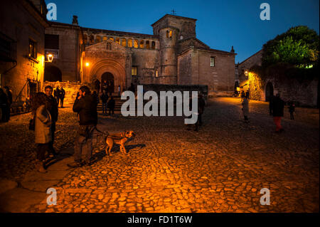 The church of Santa Juliana in Santillana del Mar is of Romanesque style and one of the architectural jewels of - Stock Photo