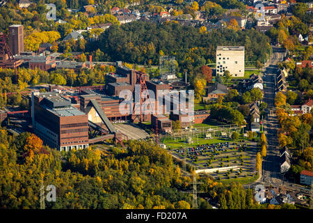 Doppelbock tower, mine tower, shaft XII, Zollverein Coal Mine Industrial Complex, UNESCO World Heritage Site, autumn, - Stock Photo