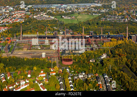 Zollverein coking plant, autumn, Zollverein Coal Mine Industrial Complex, UNESCO World Heritage Site, Essen, Ruhr - Stock Photo