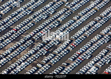 lot of new cars in the industrial port of valencia spain europe stock photo royalty free. Black Bedroom Furniture Sets. Home Design Ideas