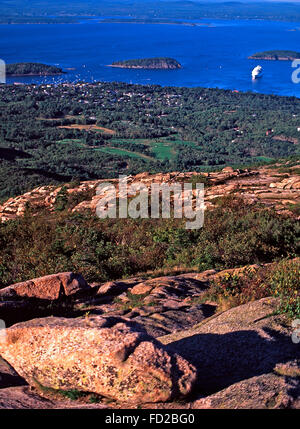 View from Cadillac Mountain,Acadia National Park,Maine - Stock Photo