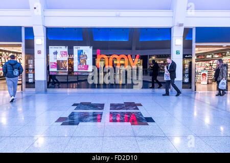 A branch of HMV in Churchill Square shopping mall, Brighton. - Stock Photo