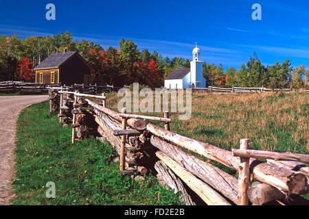 Acadian Historical Village,Caraquet, New Brunswick - Stock Photo