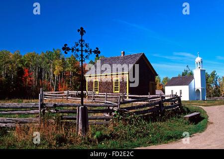 Acadian Historical Village,Caraquet,New Brunswick - Stock Photo