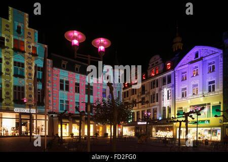 D-Recklinghausen, Ruhr area, Westphalia, North Rhine-Westphalia, NRW, 'Recklinghausen leuchtet', festival illumination - Stock Photo