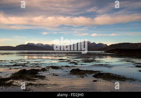 Dusk Reflections at Ord on the Isle of Skye, Scotland UK