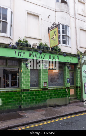 The Mucky Duck pub in Manchester Street Brighton UK Pubs with unusual names - Stock Photo