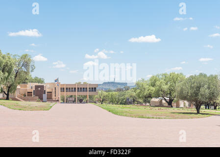 BLOEMFONTEIN, SOUTH AFRICA, JANUARY 26, 2016: The War Museum at the Womens Memorial. Naval Hill is visible in the - Stock Photo