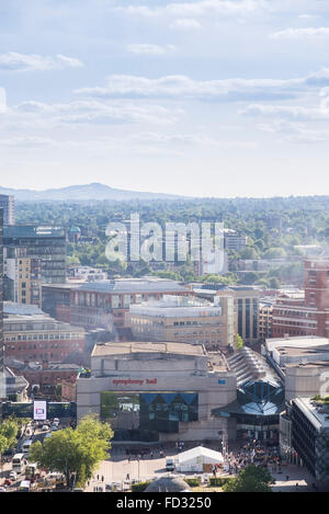 Symphony Hall and The ICC in Centenary Square, Birmingham - Stock Photo