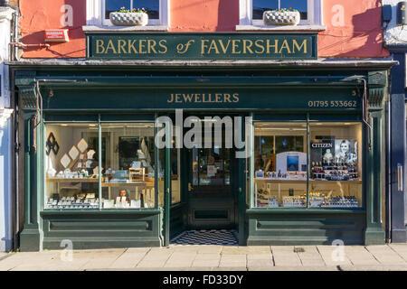 Barkers of Faversham jewellery shop in Faversham, Kent. - Stock Photo