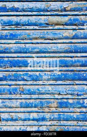 metal background in blue - Stock Photo