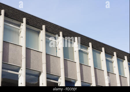 The top of an office building from the 1960s or 1970s in Ipswich, UK - Stock Photo
